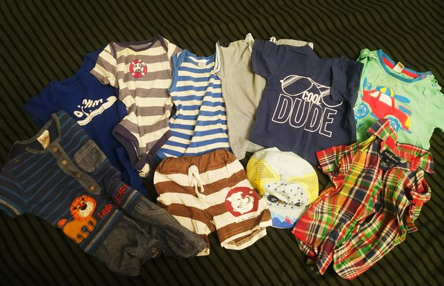 Пакет летних вещей на малыша 6-12 мес