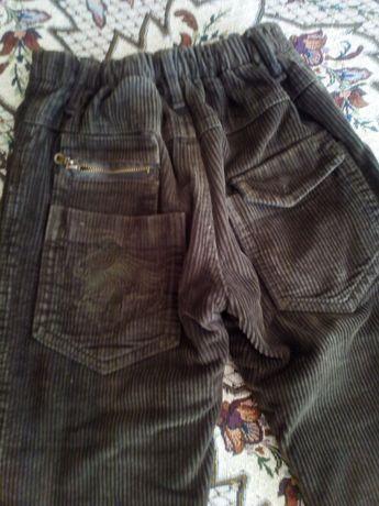 Вельветовые брюки на флисе