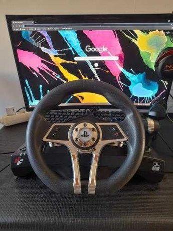 Volante Hurricane Wheel PS4/PS3/PC com pedais