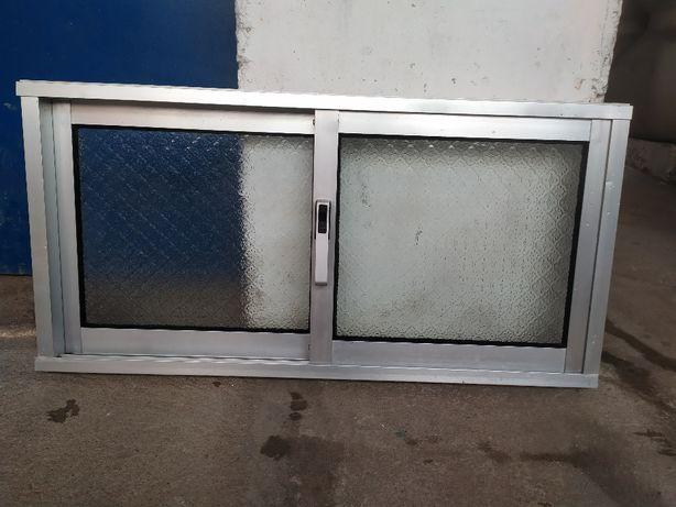 Janela de alumínio de correr de 2 folhas vidro martelado
