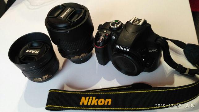 Lustrzanka Aparat Nikon D3300 nikkor 18-105 Nikkor 35