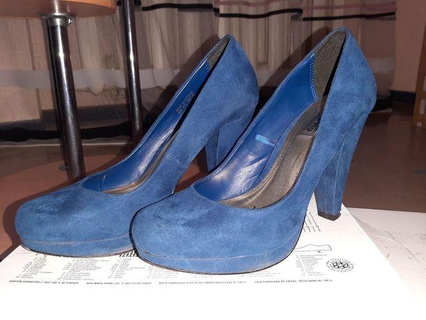 Синие туфли женские