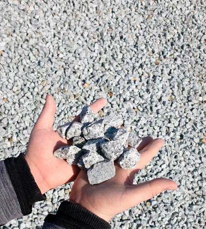 Granit szary kamień grys ogrodowy
