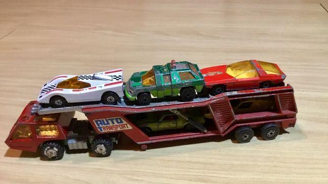 Matchbox Superkings Car Transporter e 5 miniaturas matchbox