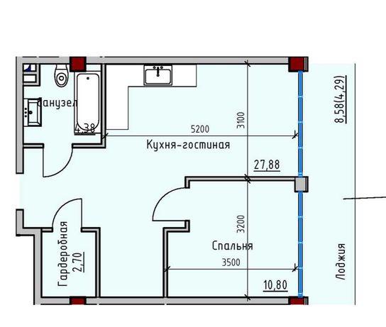 Квартира с большой лоджией на Софиевской