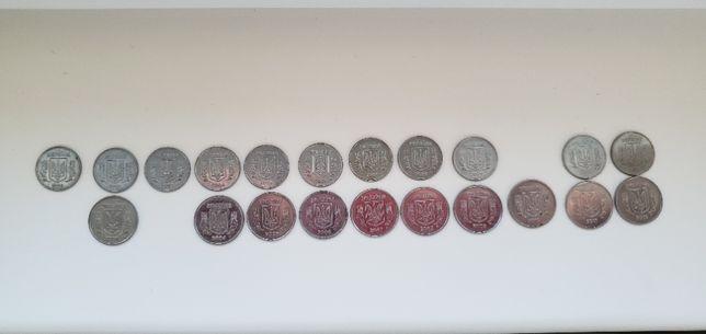 Монеты Украины 1-2 копейки, коллекция (одним лотом), Українські гроші