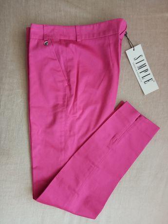 Spodnie damskie różowe Simple roz. 34 - nowe