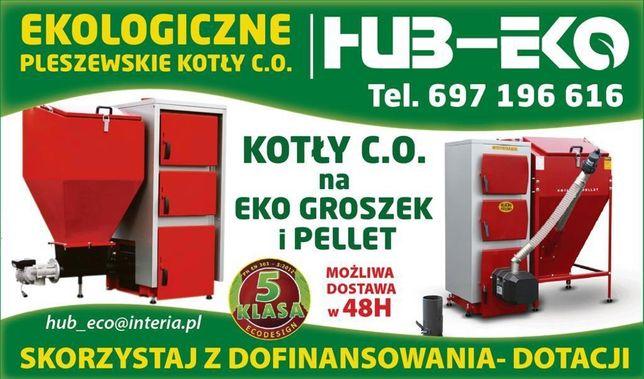 Kocioł piec z podajnikiem 5 klasa na ekogroszek 12 KW HUB-EKO