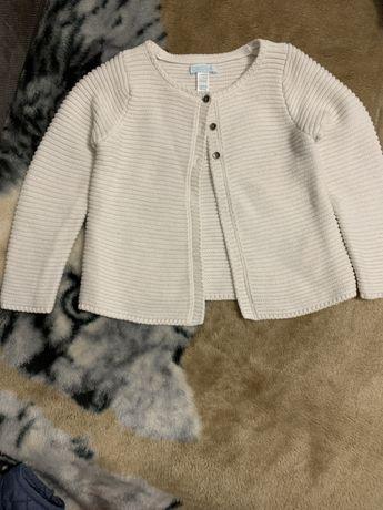 Sweter rozmiar 80 - 86 okaibi na chrzest lub na codzień