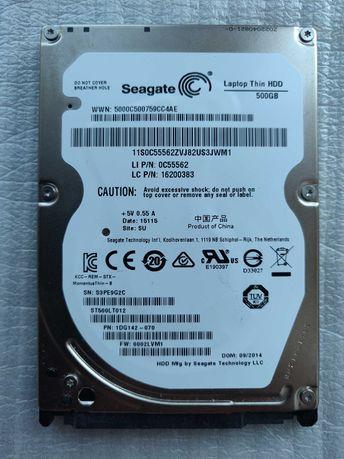 Продам жесткий диск Seagate 500 Gb, 2.5