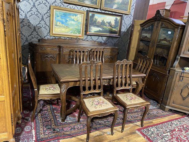 Jadalnia/stół roz.| komoda |krzesła | zestaw mebli/antyki stylowy wegr
