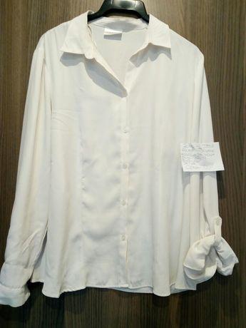 biala wizytowa bluzeczka koszulowa jak NOWA