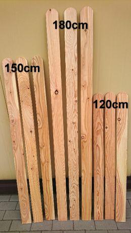 Sztacheta drewniana modrzew 2x9x120cm płotek