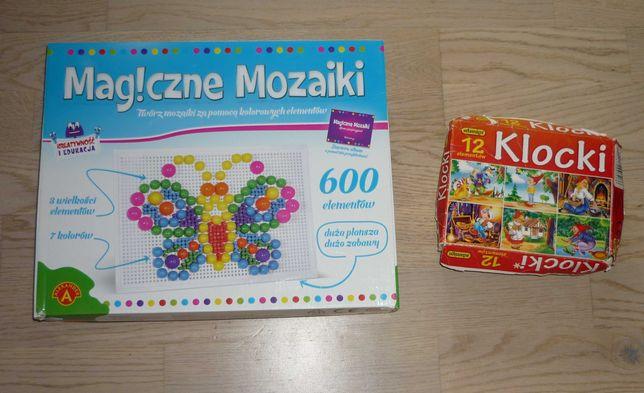 Gra Układanka Magiczne Mozaiki Alexander + Klocki Adamigo