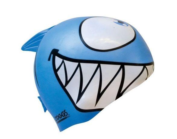 Dziecięcy czepek silikonowy Zoggs Niebieski Rekin!