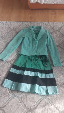 Zestaw sukienka+marynarka Reporter  dla dziewczynki na wzrost 146/152