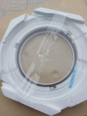Prato de vidro para microondas.