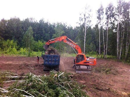 Расчистка территории, Спил деревьев, уборка участка Выравнивание