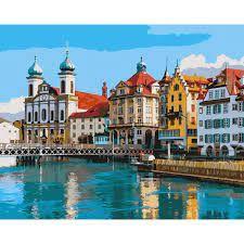 """Набор в коробке, картина по номерам """"Удивительная Швейцария"""", 40 * 50"""