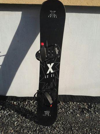 Deska snowboardowa 153 cm X Level z wiązaniami HT high tension ITALY