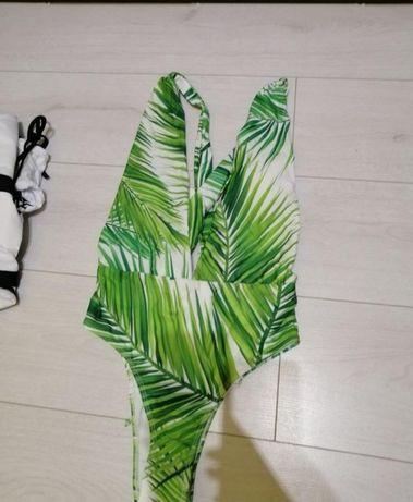 Новый слитный сдельный купальник монокини с пальмами