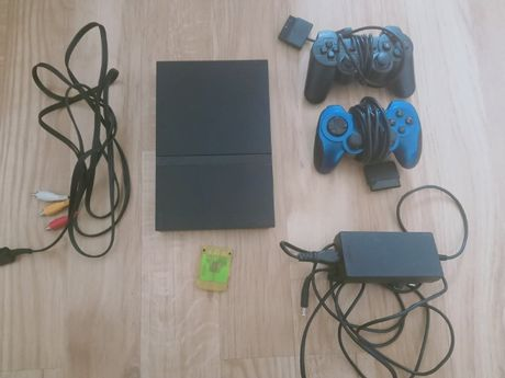 Konsola PLAYSTATION PS2+2 pady +GRY PS2 5 gier do wyboru+kable+ Karta