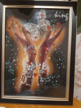Готовая картина алмазная вышивка