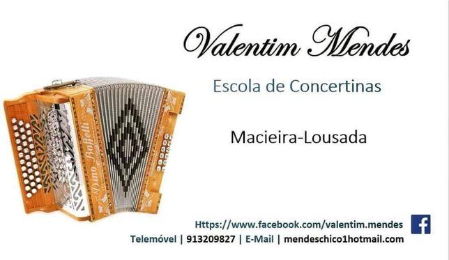 Aulas de concertina INDIVIDUAL Lousada