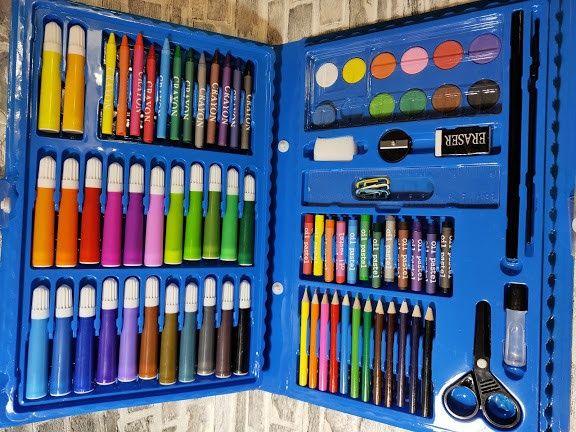 детский набор для творчества 86 преметов для рисования карандаши