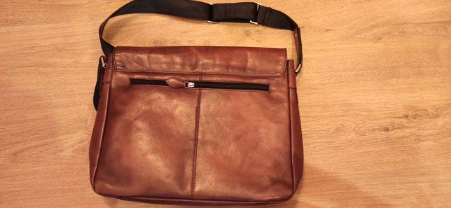 Skórzana torba bugatti nieużywana