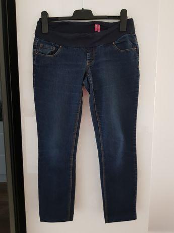Spodnie ciążowe jeans oraz getry r.38