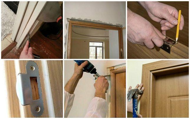 Монтаж,ремонт,проф.реставрация дверей. Установка,ремонт,замена замков.
