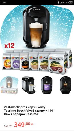 Nowy ekspres do kawy z kubkami Bosch Tassimo