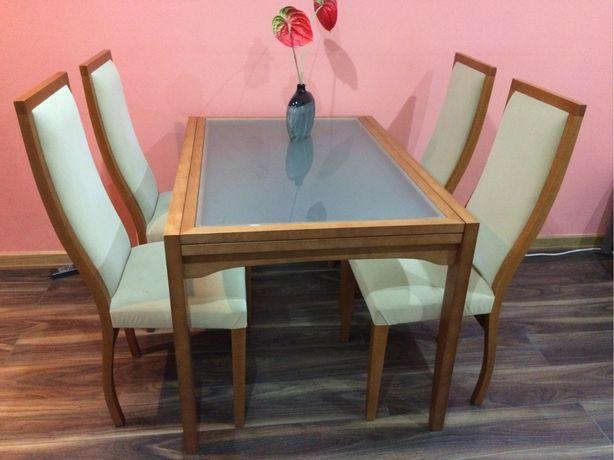 Vendo mesa cerejeira+6 cadeiras