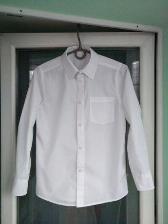 "Рубашка школьная ""TU"" разм.140-146 мальчику 10лет белая форма школа"