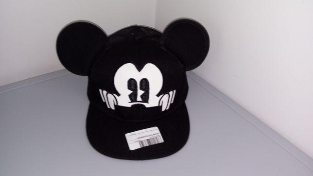 NOWA Czapka z daszkiem z uszami Miki, Mickey, Mikki. Czarna z siatką
