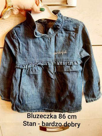 Bluzeczka a'la jeans bluzka jeansowa 86 cm