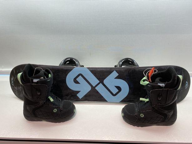 Zestaw snowboard, wiązania, buty Burton dla dziecka