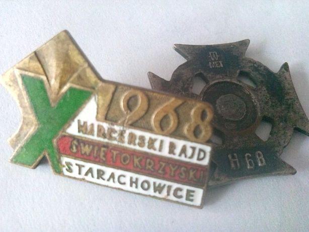 Harcerski Rajd Świętokrzyski Starachowice 1968- odznaki.