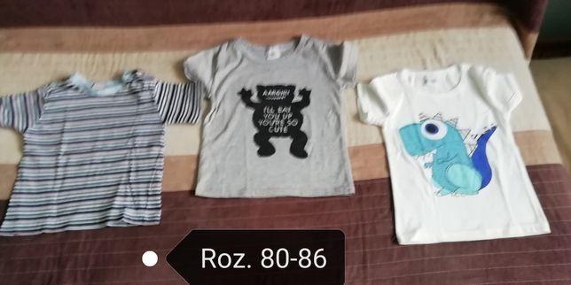 Koszulki dziecięce z krótkim rękawem.