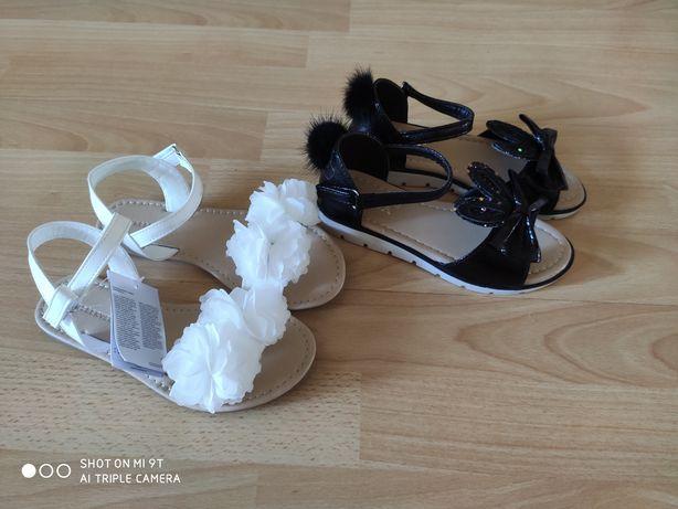 Zestaw Nowe buty, sandały dla dziewczynki 2 pary rozmiar 32