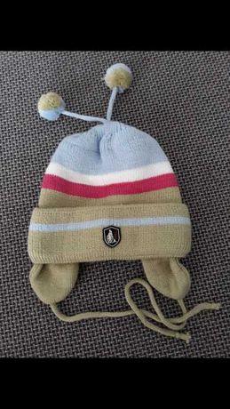 Czapka czapeczka ciepła zimowa na zimę wiązana nowa