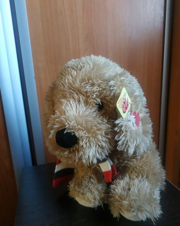 500 руб новая игрушка собака в шарфе