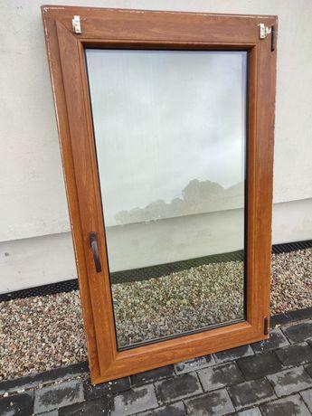 Okno 90x145 PCV dwuszybowe złoty dąb