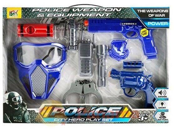 Игровой набор полицейского для мальчика звук свет