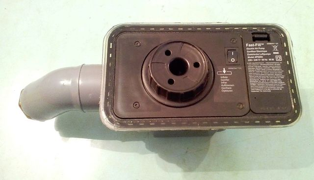 Воздушный электронасос (помпа), 220V от матраца «Intex» 67738, РАБОЧИЙ