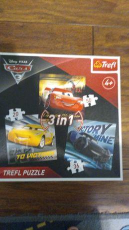 Puzzle AUTA Cars 3w1 Trefl 4+