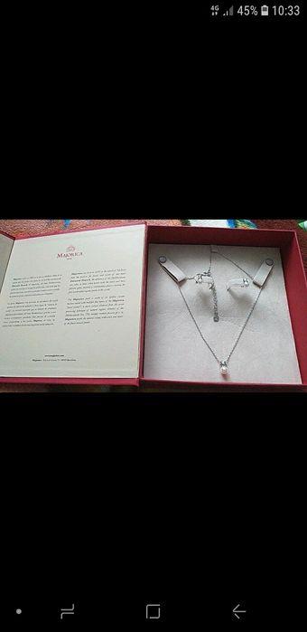 Srebrny komplet z perelkami *Majorica Prezent Łosice - image 1