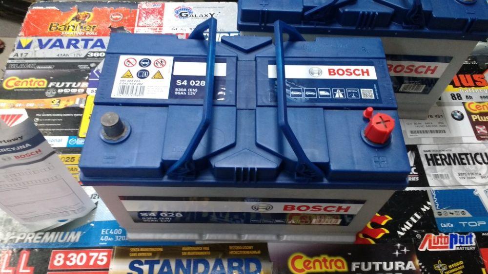 Akumulator Bosch S4028 12V 95Ah 830A G7 P+ dowóz montaż Kraków Azory