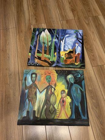 Współczesne obrazy malowane na płótnie